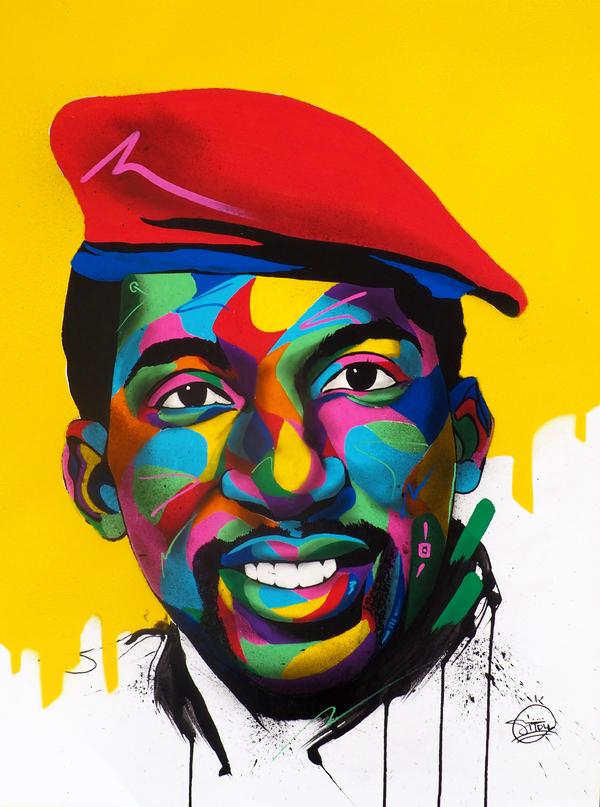 Thomas Sankara By Sitou 2019 Painting Artsper 488329