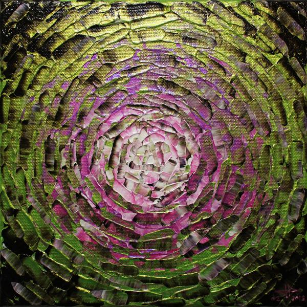 petit eclat de lueur rose verte iridescente by jonathan pradillon 2019 painting artsper 508892 artsper