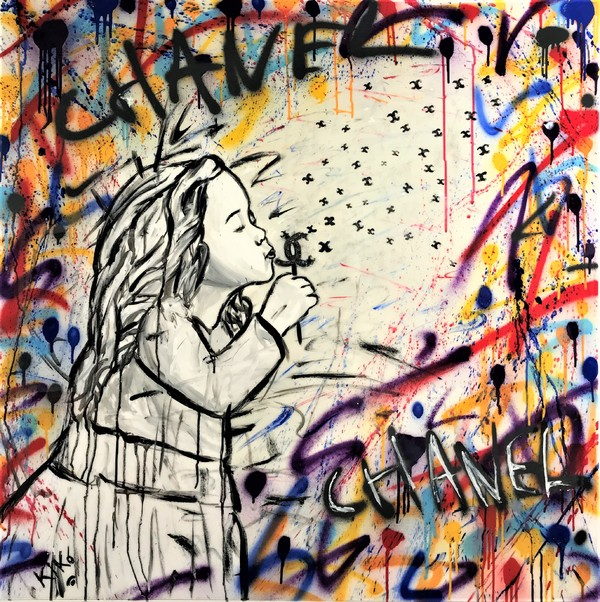 A0 SIZE CANVAS Print black white pop street Art painting girl warhol woman face