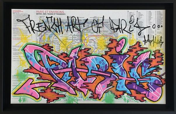 Plan Metro Paris By Eskos 2015 Painting Artsper 53430