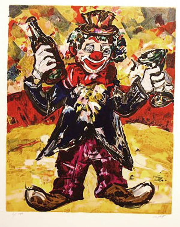 Clown Ivrogne By Maurice D Anty 1985 Print Artsper 538531