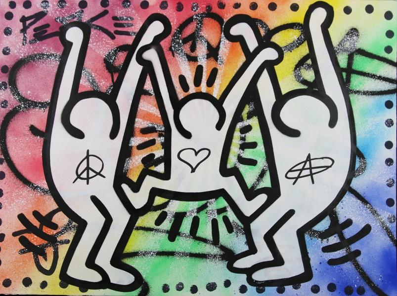 My Kid Just Ruined My Keith Haring by Ziegler T, 2019 | Painting ...