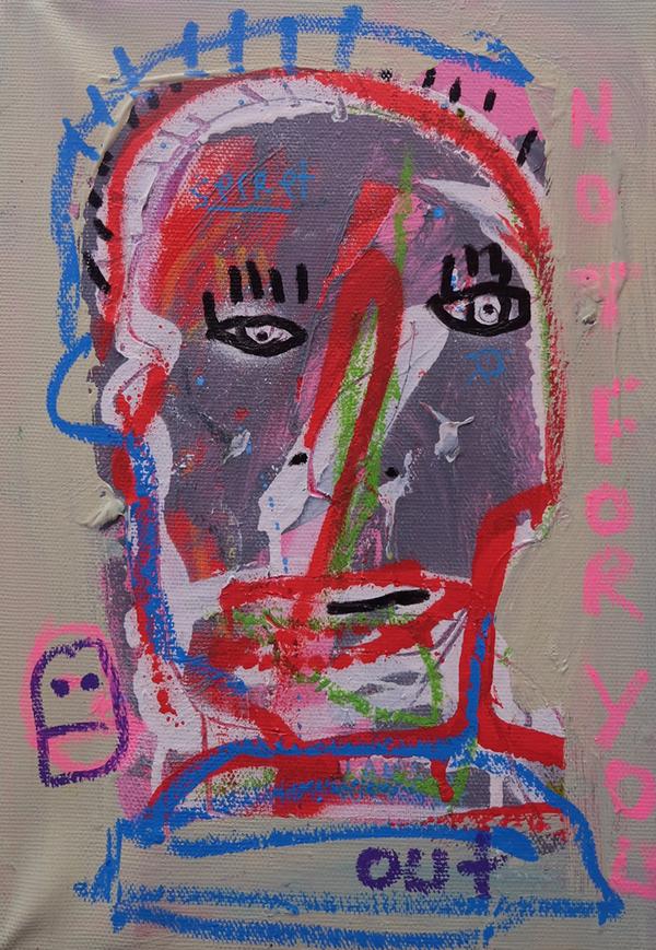 Converse rouge (huile sur bois 41 x 33) Painting by