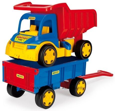 Samochód dla dziecka wywrotka z przyczepą gigant 65100 WADER