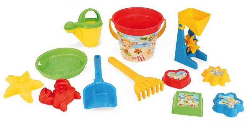 Zabawki do piaskownicy 12 elementów 75033 WADER