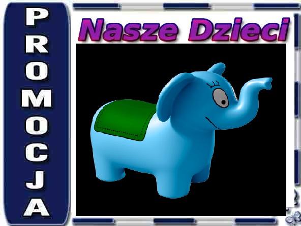 4404 GUMOWY SKOCZEK Barbapapa Jumping elephant, blue