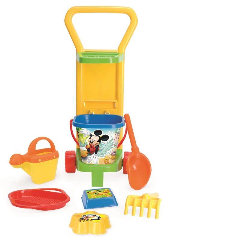 Zabawki do piaskownicy wózek Myszka Miki Disney Wader 77470