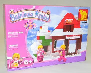 DROMADER 24401 klocki BAŚNIOWA KRAINA zimowy świąteczny domek 130 elem.