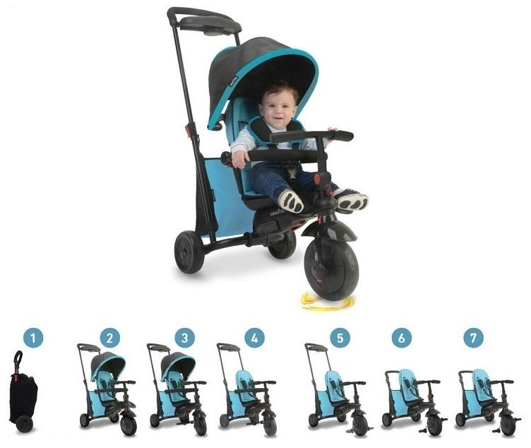 Rowerek trójkołowy składany Folding Trike 500 7w1 niebieski
