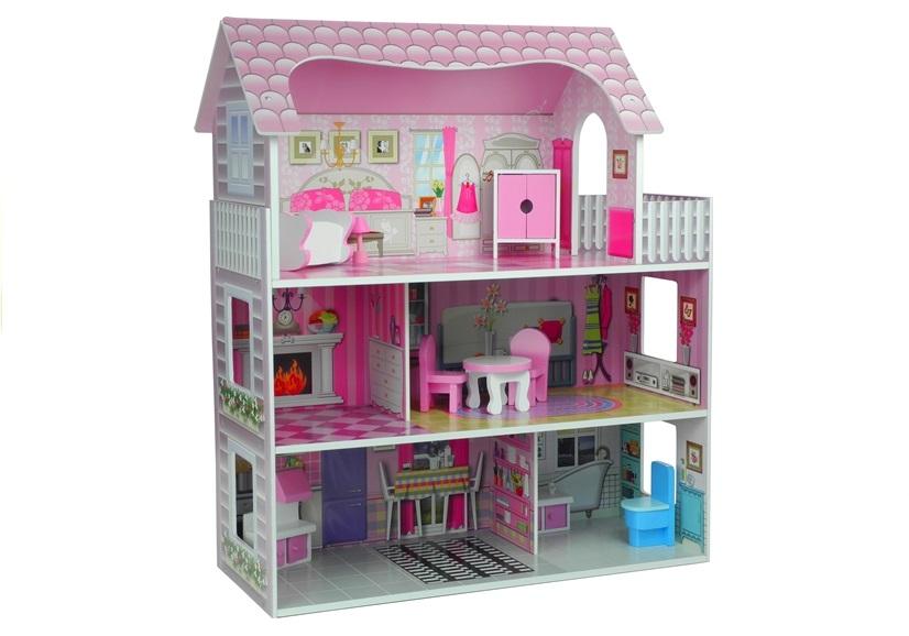 ND24_2264 Domek dla lalek Drewniany Villa Stefi Pietrowa
