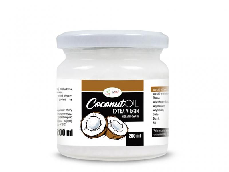 Olej kokosowy VIRGIN VIVIO 200ml