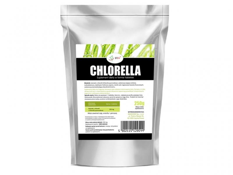 Chlorella duża tabletki 250mg (1000 tabletek 250g)