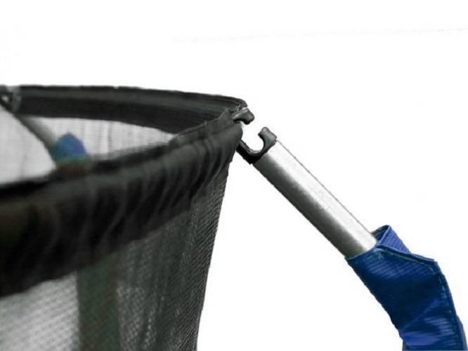 Trampolina Ogrodowa 244 cm / 8 FT Maxy Comfort Niebieska Z Wewnętrzną Siatką