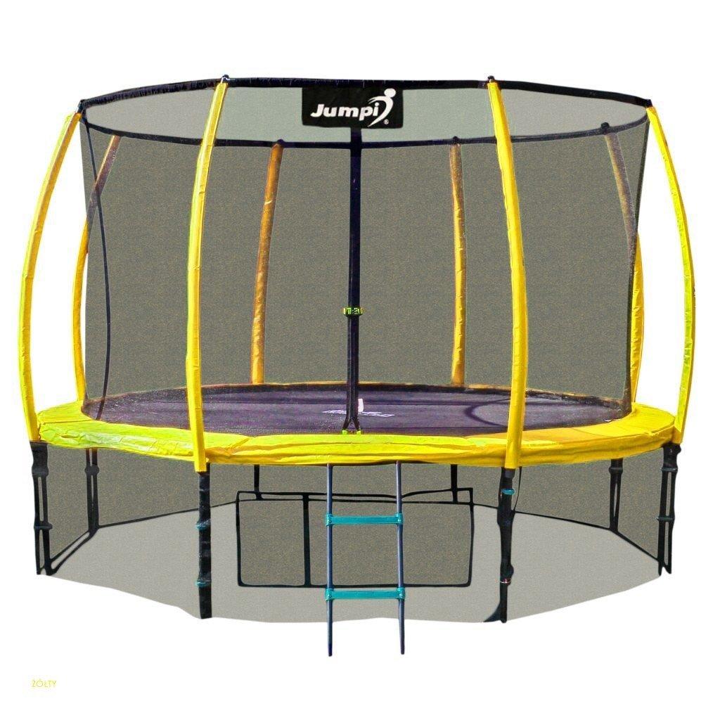 Trampolina Ogrodowa 312cm/10ft żółta Maxy Comfort PLUS Z Wewnętrzną siatką