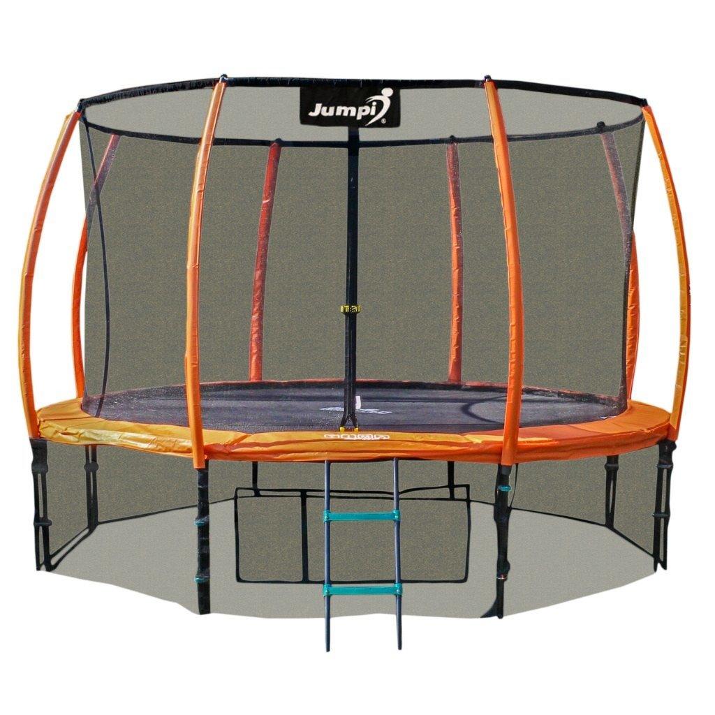 Trampolina Ogrodowa 312cm/10ft pomarańczowa Maxy Comfort Plus Z Wewnętrzną siatką