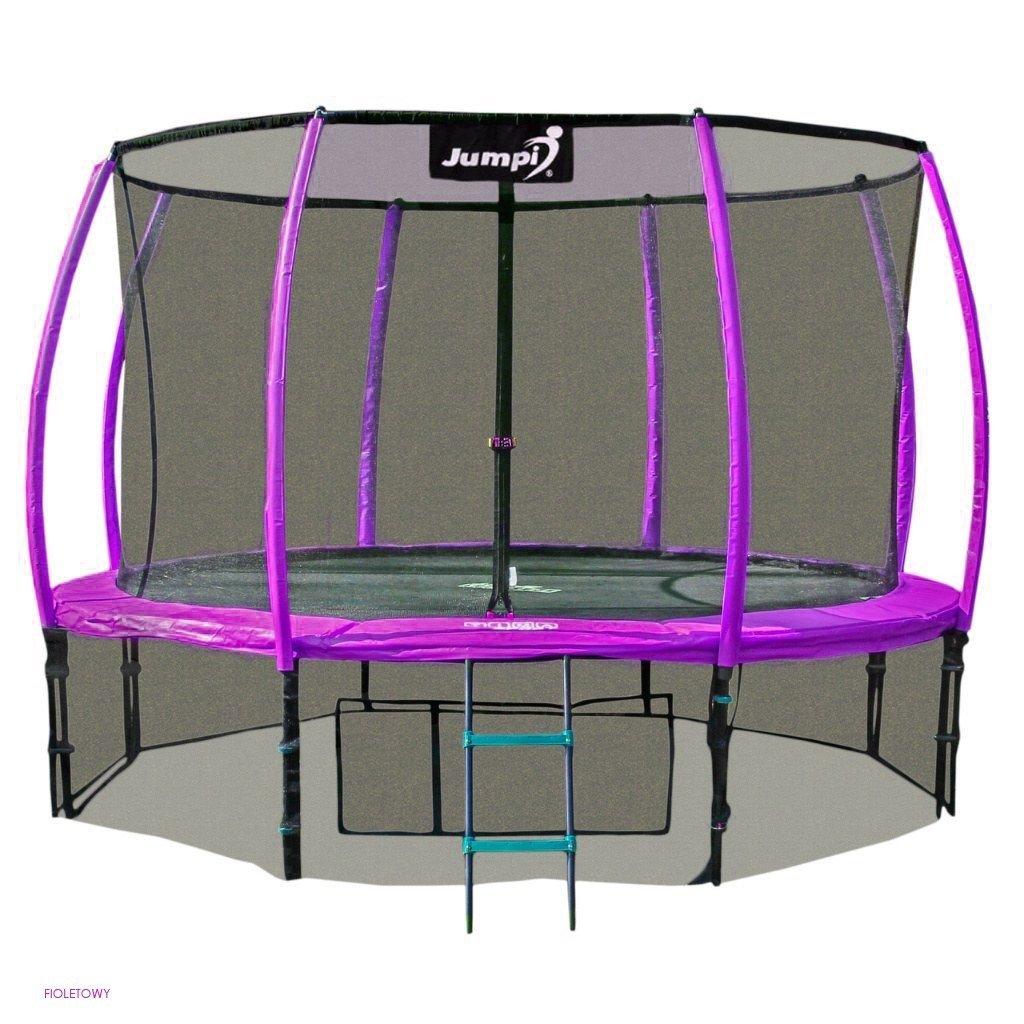 Trampolina Ogrodowa 312cm/10ft fioletowa Maxy Comfort PLUS z Wewnętrzną siatką