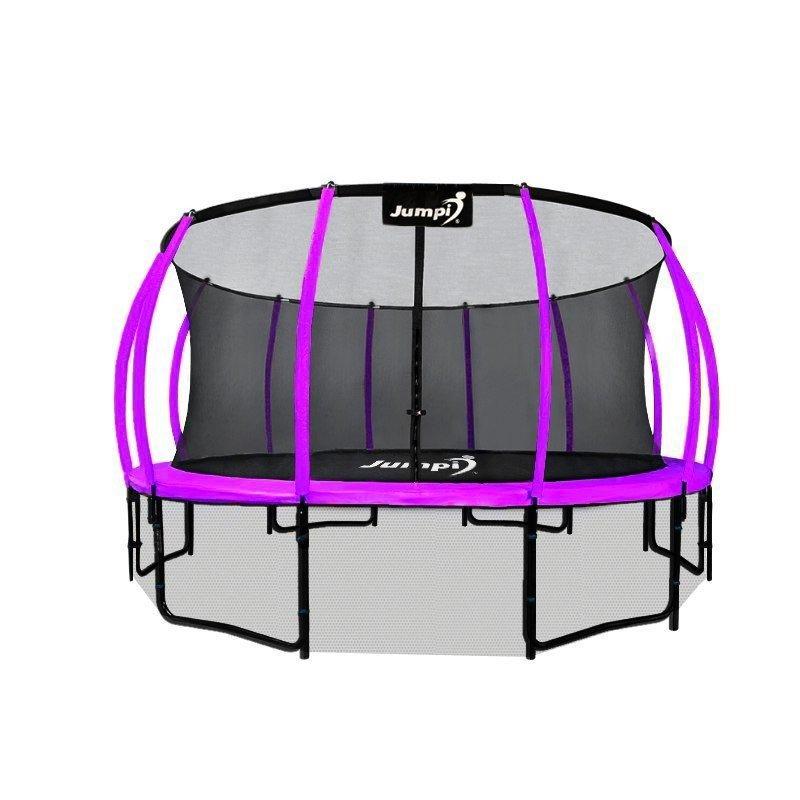 Trampolina Ogrodowa 435cm/14ft fioletowa Maxy Comfort Plus Z Wewnętrzną siatką