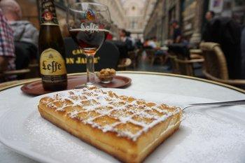 Leffe and waffle
