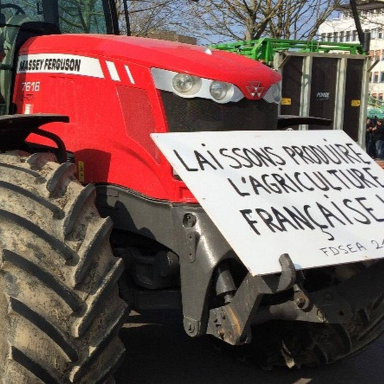 """Manifestation des agriculteurs à Dijon : """"On est aussi là pour..."""