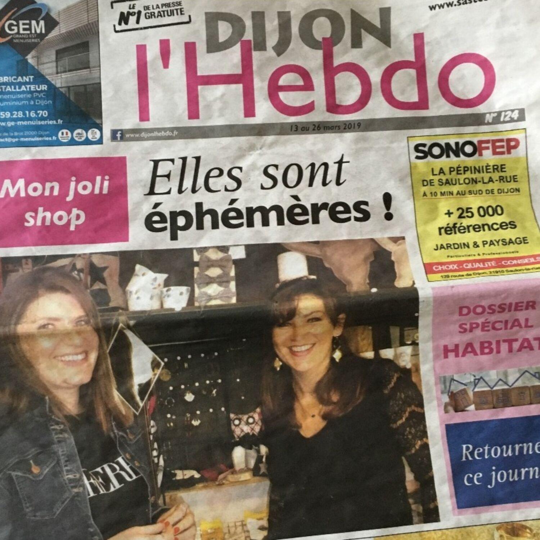 Une boutique éphémère à la une de Dijon l'Hebdo