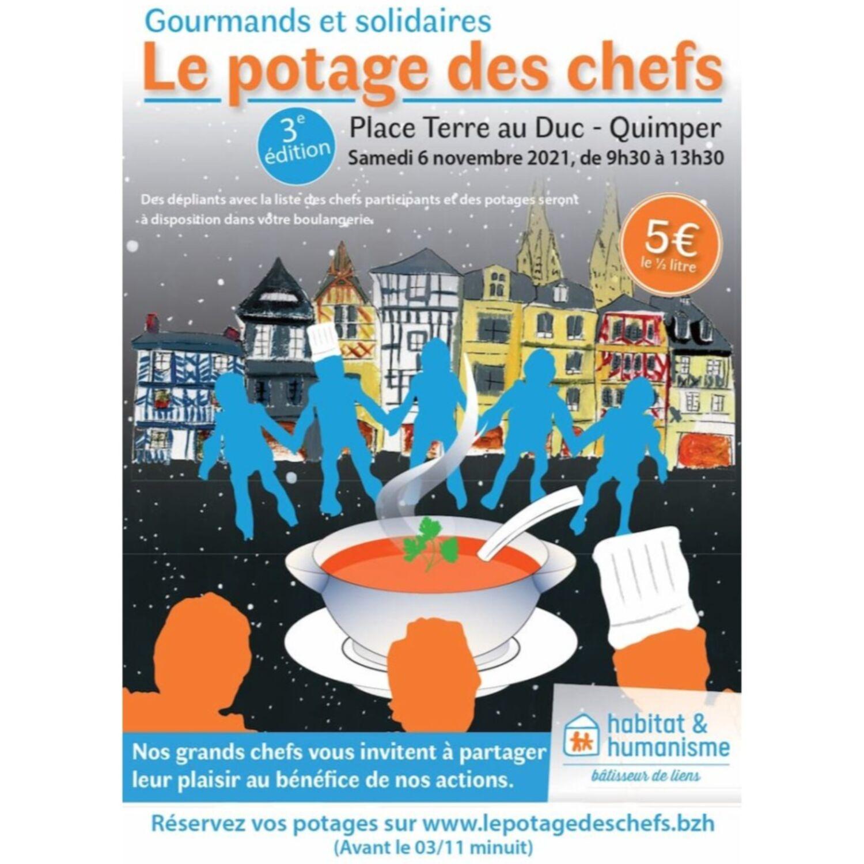 3ème édition du Potage des Chefs à Quimper le 6 novembre
