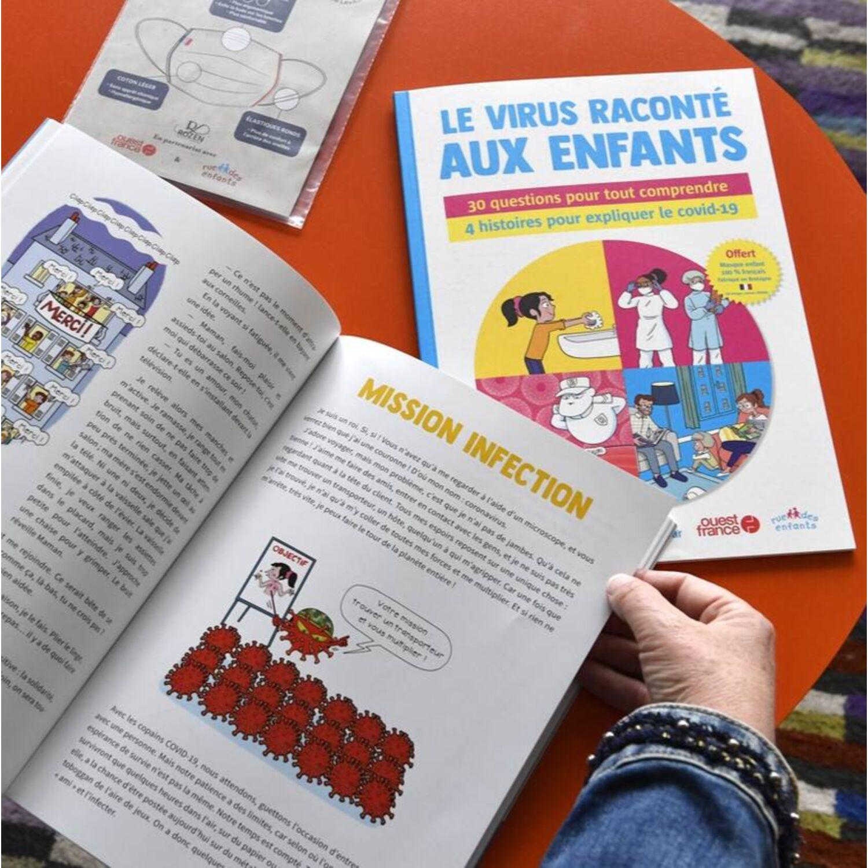LE VIRUS RACONTE AUX ENFANTS, UN HORS SERIE OUEST FRANCE