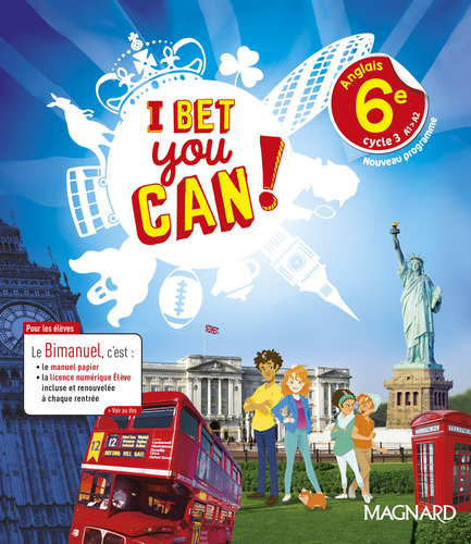 9782210107854 I Bet You Can!  Anglais 6e (2017) - EXTRAIT | Magnard | v1
