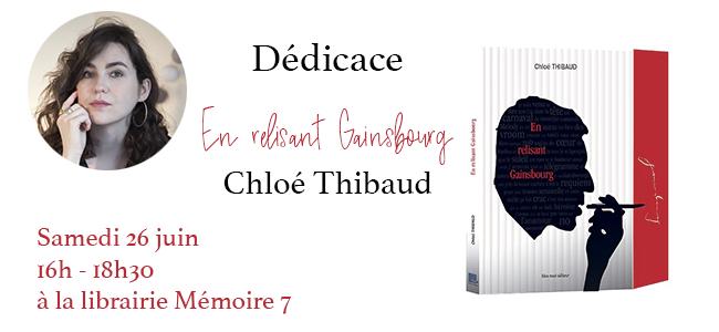 Dédicace En relisant Gainsbourg