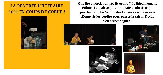 COUPS DE COEUR POUR LA RENTREE LITTERAIRE 2021 !