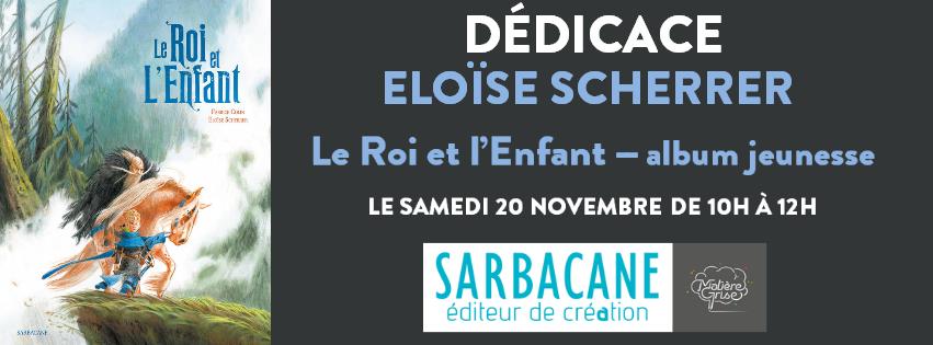 Samedi 20 novembre - Dédicace d'Eloïse Scherrer
