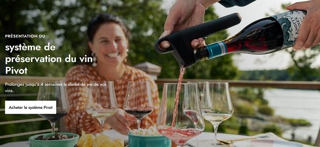 Système de préservation du vin Pivot® de Coravin®