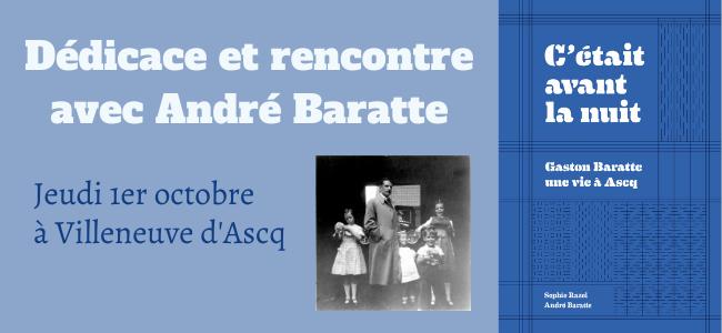 Rencontre/Dédicace avec André Baratte