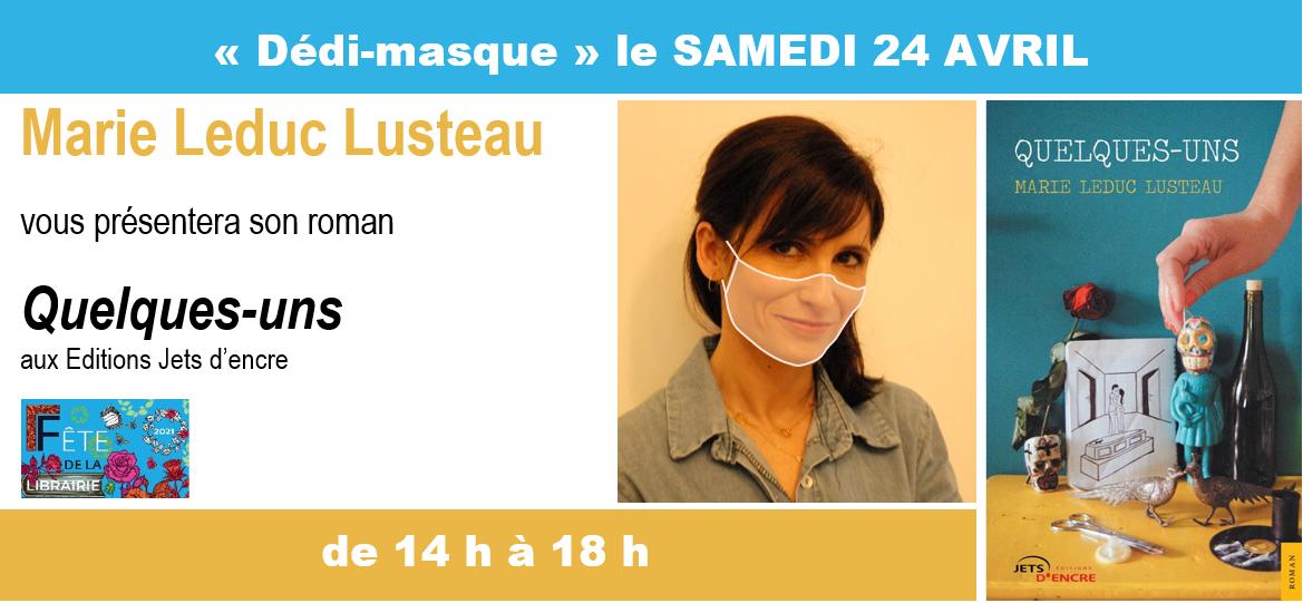 """"""" Dédi-masque """" samedi 24 avril"""
