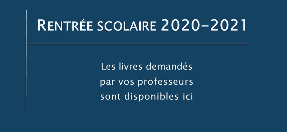 Rentrée scolaire 2020-2021