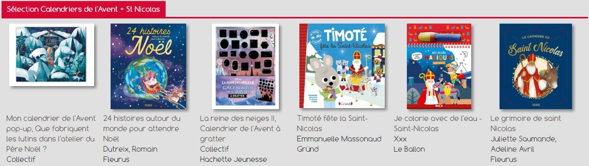 Sélection Calendriers de l'Avent + St Nicolas