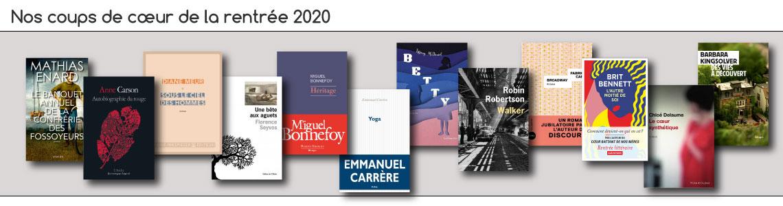Coups de cœur de la rentrée 2020