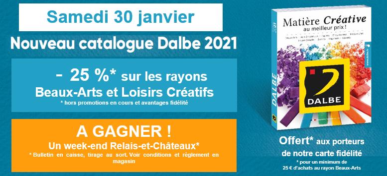 Samedi 30 janvier, nouveau catalogue DALBE