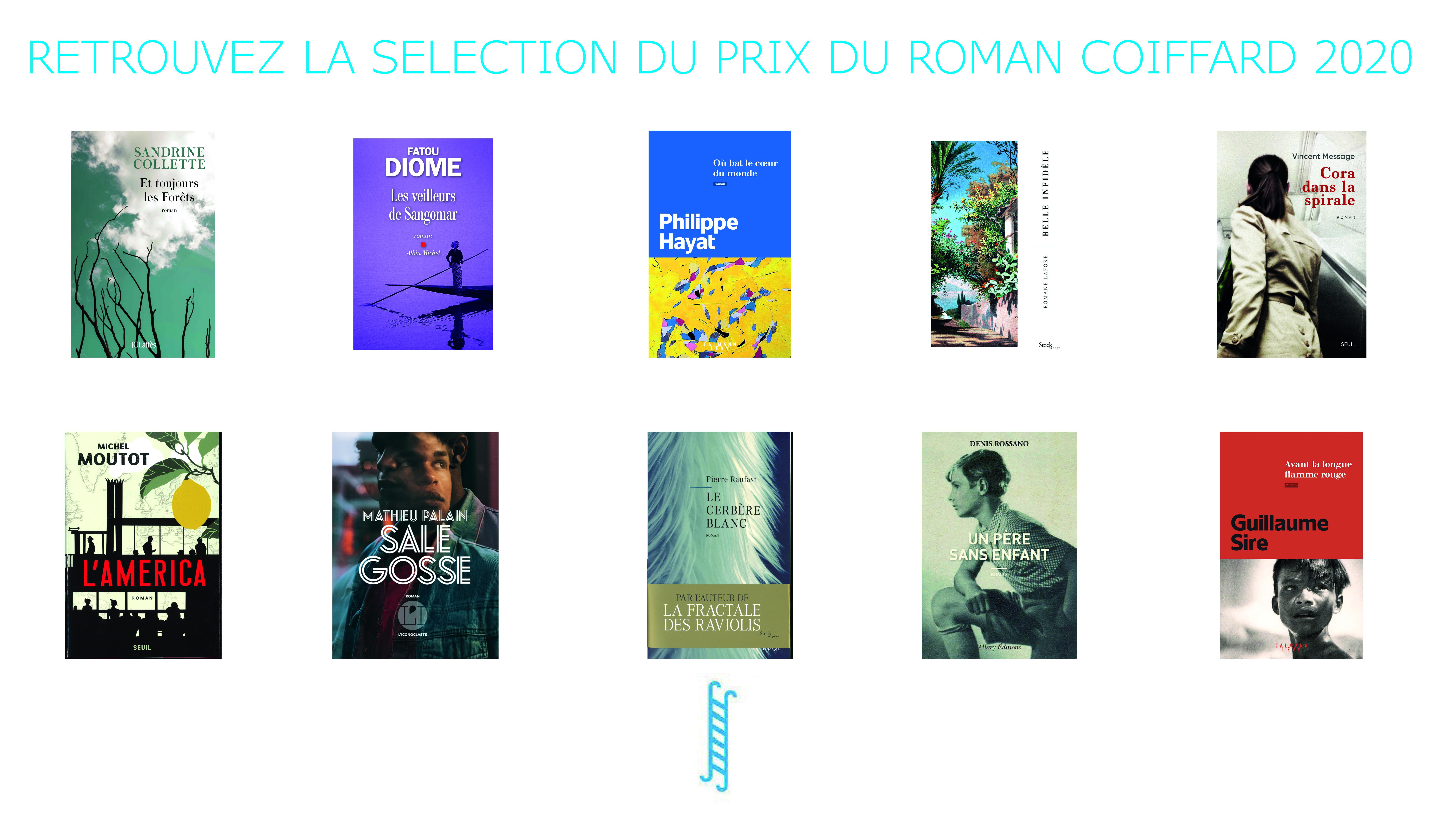 Sélection prix du roman Coiffard 2020