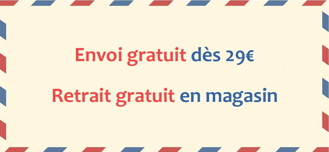 Envoi gratuit dès 29€