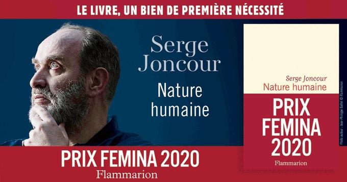 Serge Joncour lauréat du prix Femina