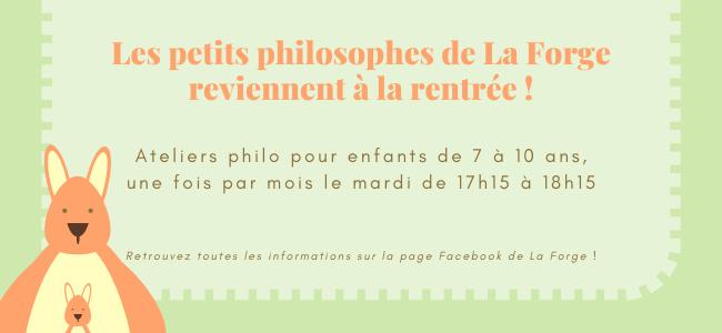 Ateliers P'tits philosophes