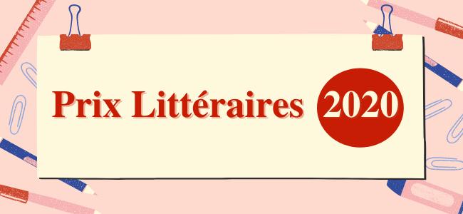 PRIX LITTÉRAIRES 2020