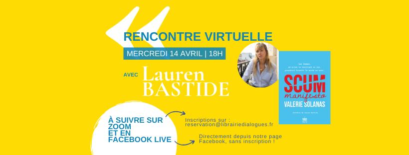 Rencontre virtuelle avec Lauren Bastide