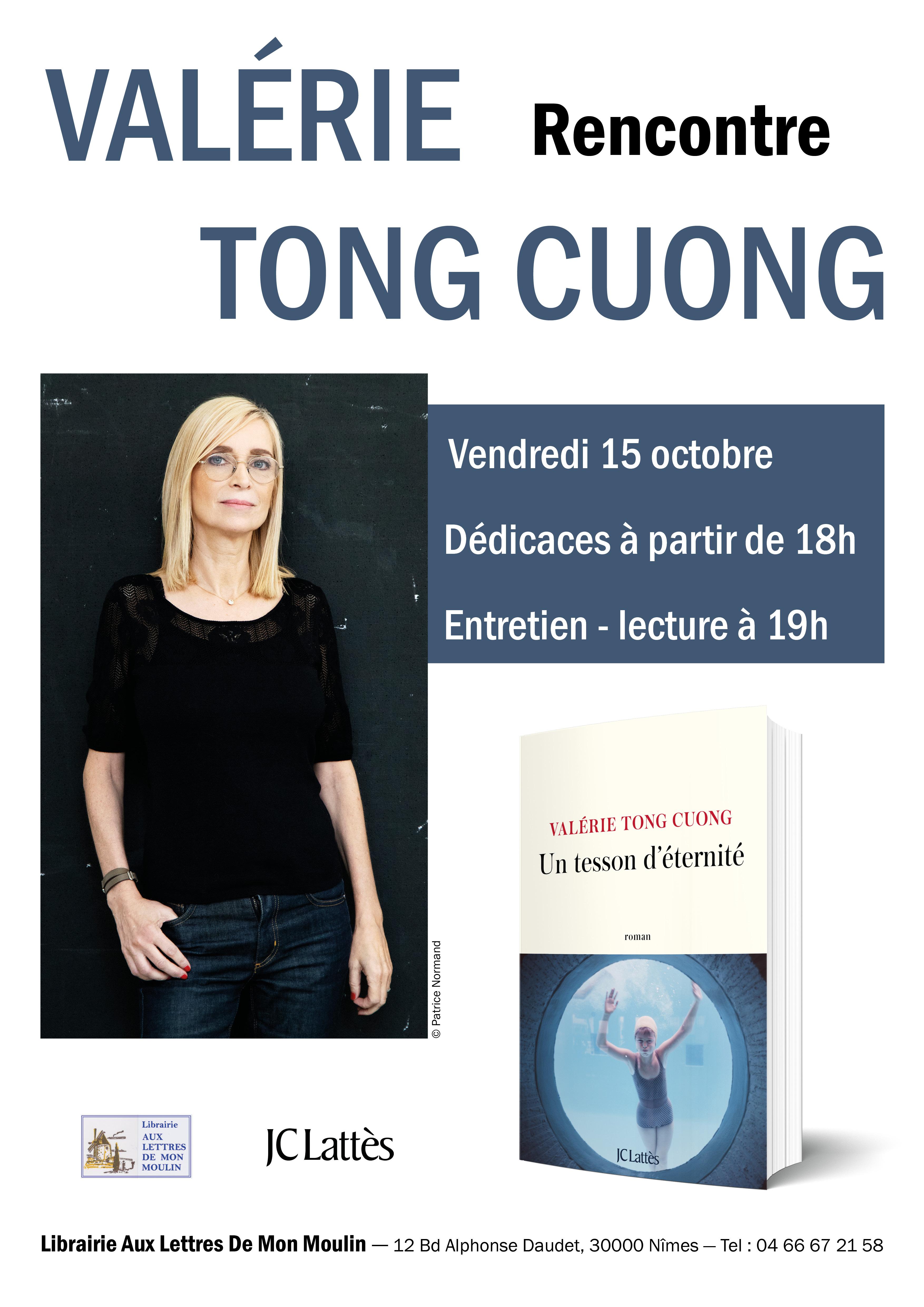 15 octobre Soirée avec Valérie Tong Cuong