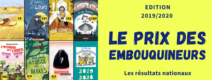 Les résultats du Prix des Embouquineurs 2019/2020