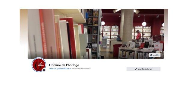 Retrouvez la librairie sur facebook