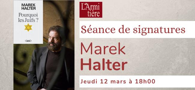 Séance de signatures avec Marek Halter