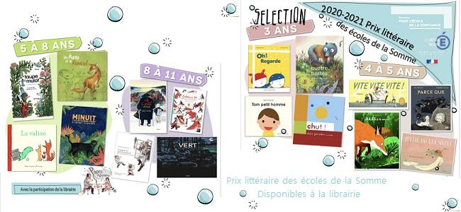 Prix littéraire des écoles de la Somme 2020-2021