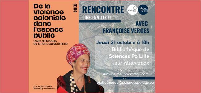 Lire la ville #1. Rencontre avec Françoise Vergès