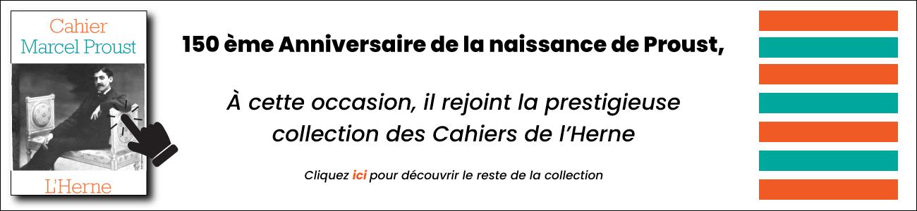 Bannière Proust Cahier de l'Herne